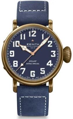 Zenith Pilot-Kollektion in Schwarz und Blau