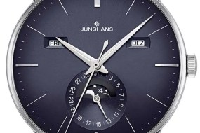 Blaues Statement: Junghans Meister Kalender
