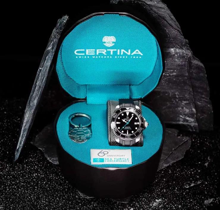 Certina DS Action Diver Sea Turtle Conservancy 60th Anniversary