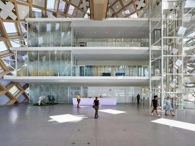 Eingangsbereich, Swatch Hauptsitz, Biel