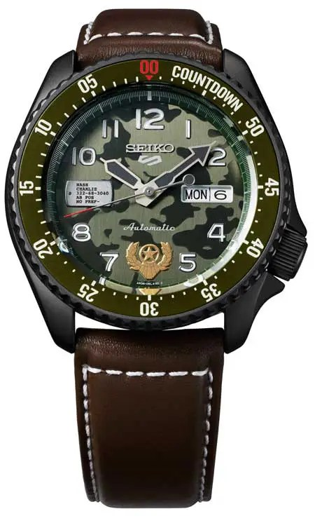 Seiko 5 Sports meets Streetfighter V, Guile Srpf21