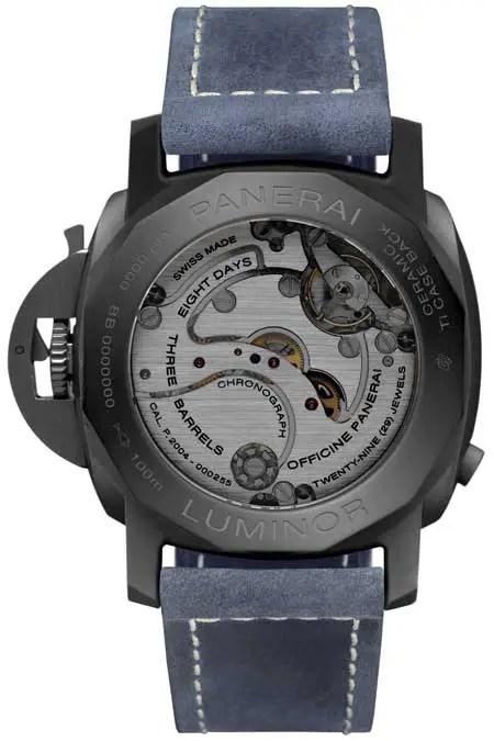 450rs.pam1135 Luminor Chrono Monopulsante GMT Blue Notte