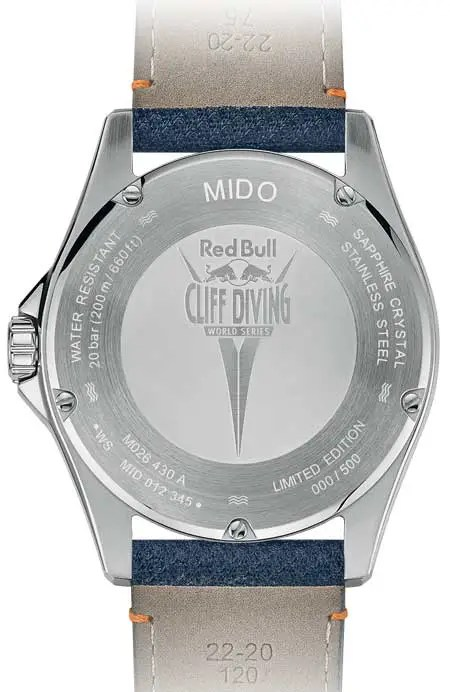 450.rs Mido Ocean Star 200 Red Bull Cliff Diving limited Edition