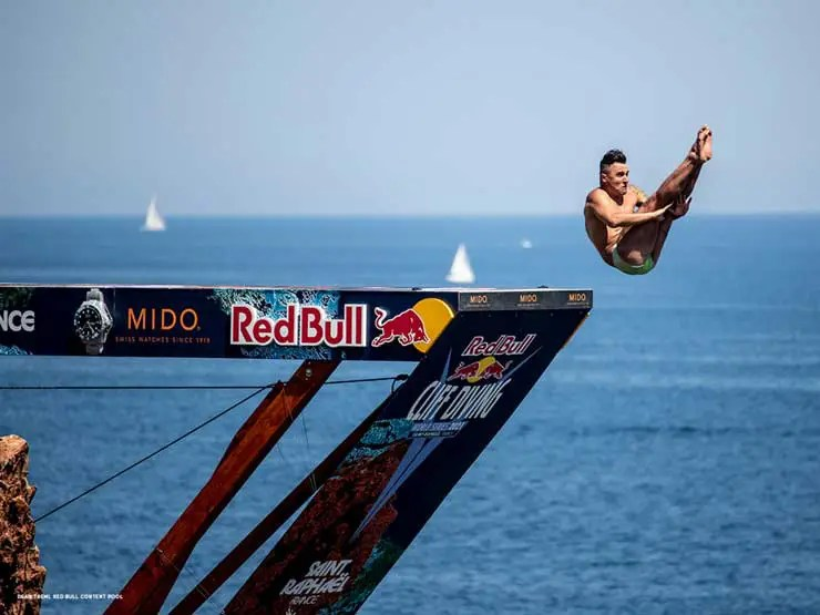 740.3 Mido Ocean Star 200 Red Bull Cliff Diving limited Edition