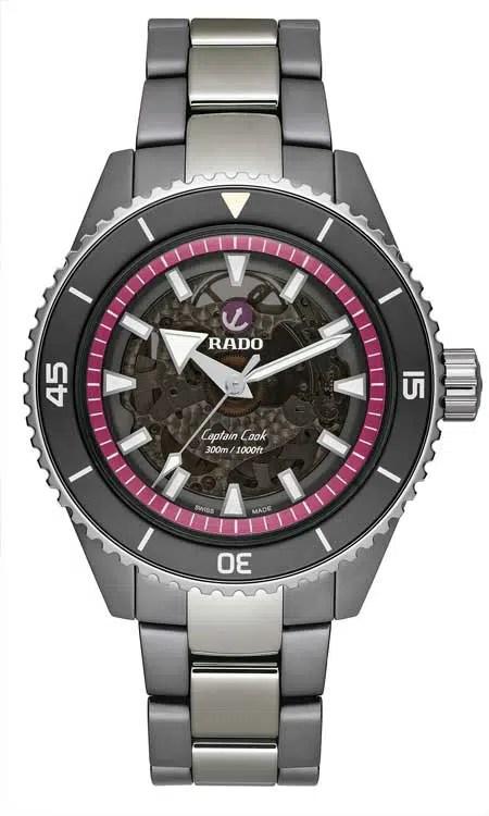 "450Rado Captain Cook High-Tech Ceramic ""The Pink Dial Project"""