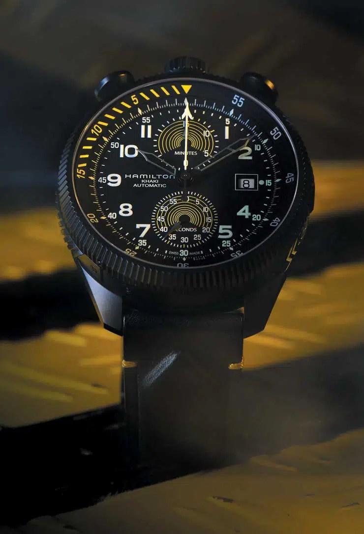 740.5 h76776733 Khaki Aviation Takeoff Auto Chrono