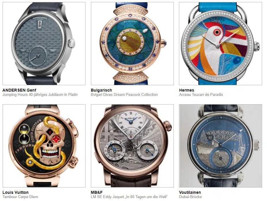 gphg 2021 nominierte Uhren kategorie Kunsthandwerk