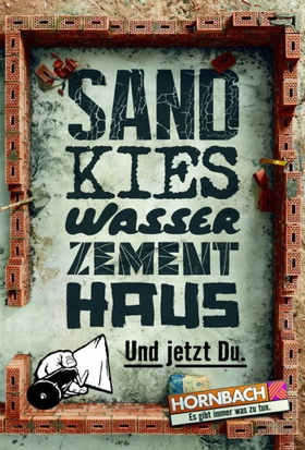 Sand, Kies, Wasser, Zement, Haus