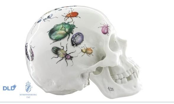 Memento Mori · Skull with Beetle Motive