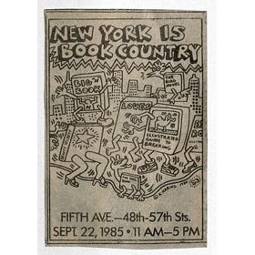 """Keith Haring Gestaltung für die ehemalige jährliche New Yorker Buchmesse: """"New York ist Bücherland."""""""