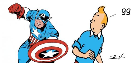 Marvel's Captain America und Hergé's Tim