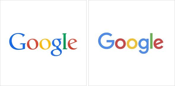 Google Logo: vorher - nachher.