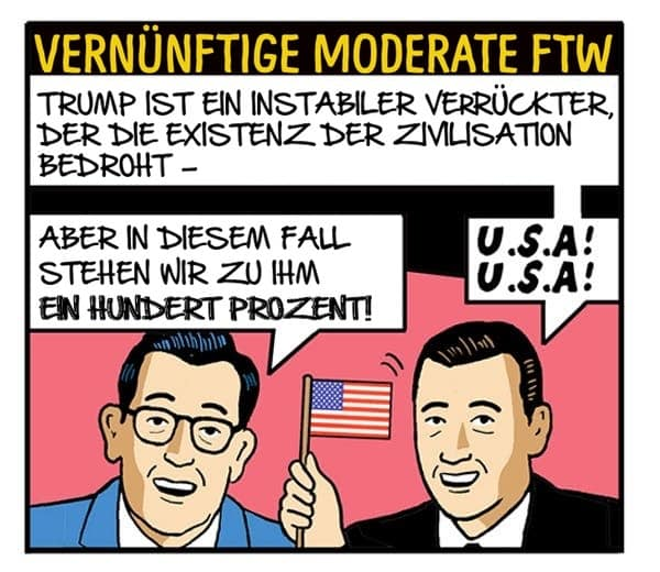 Vernünftige Moderate - The Nib Tom Tomorrow