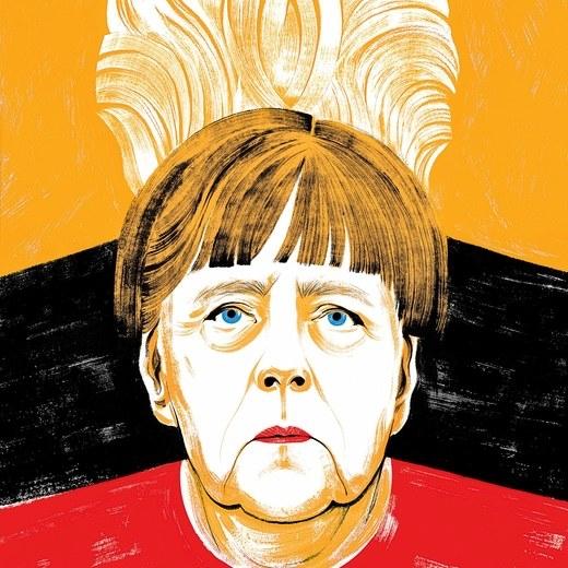 Angela Merkel Illustration von Chloe Cushman für das New Yorker Magazin