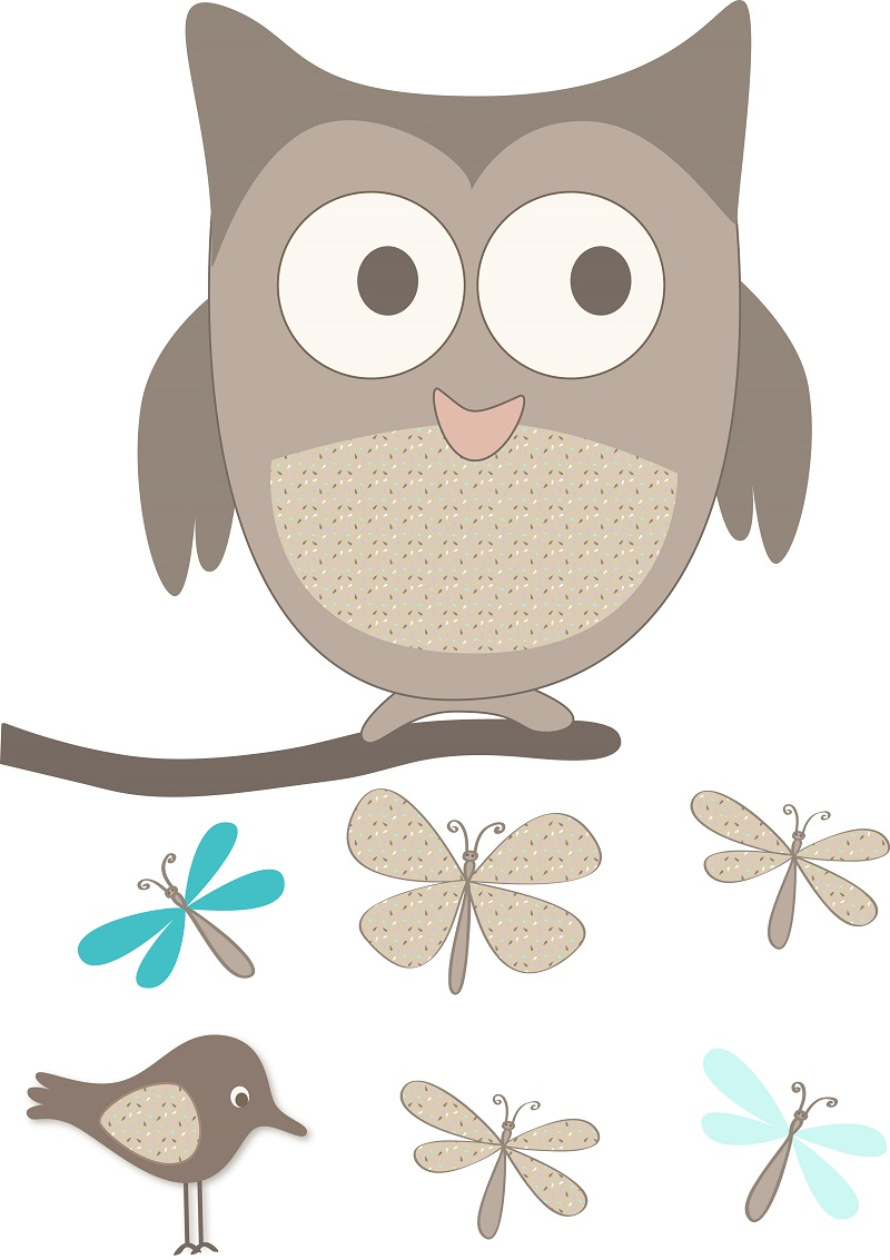 decoration sticker hibou 3