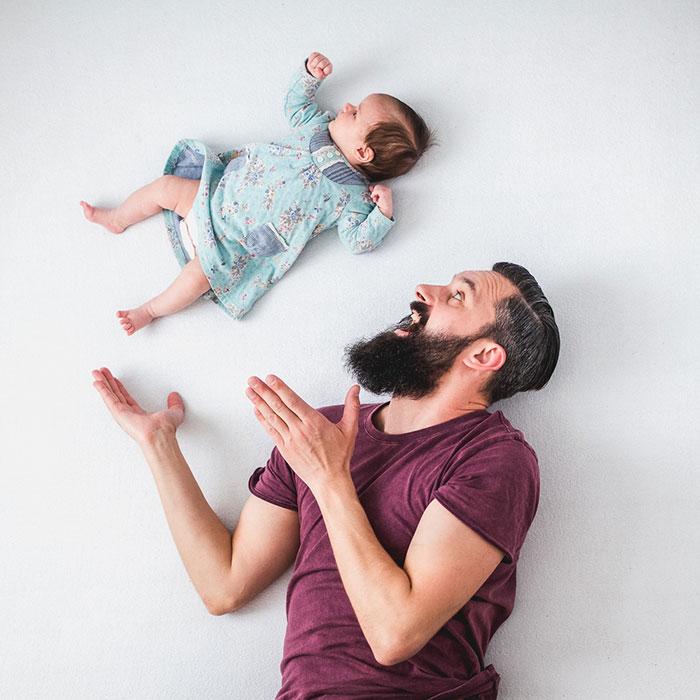 Papa fait de belles photos avec sa fille 4
