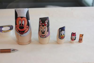 DIY poupees russes visages disney