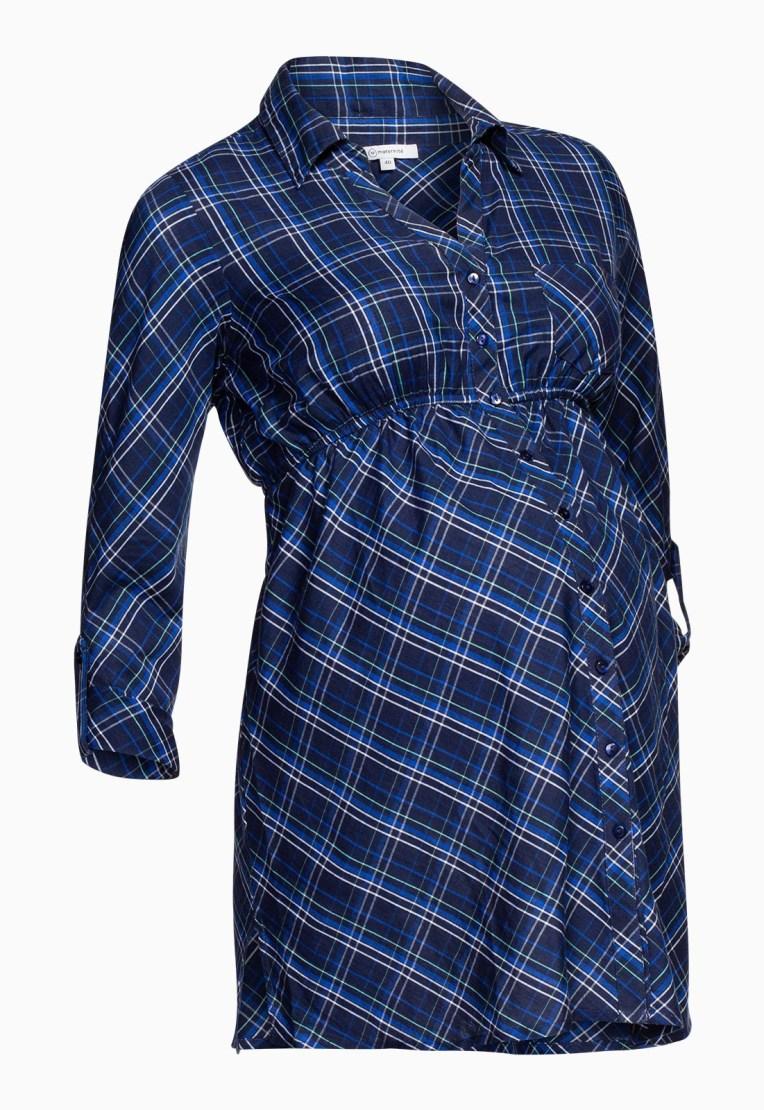 Chemise à carreaux bleus, La Halle, 24.99€