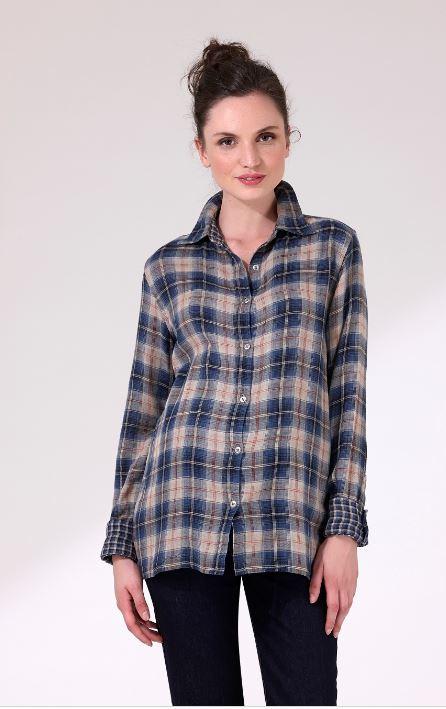 Une chemise 2 en 1 puisqu'elle est à carreaux réversibles. Ample et bien coupée, elle assure un confort sans faille et sa matière douce est 100% coton. Chemise Nava, 1 et 1 font 3, 110 euros.