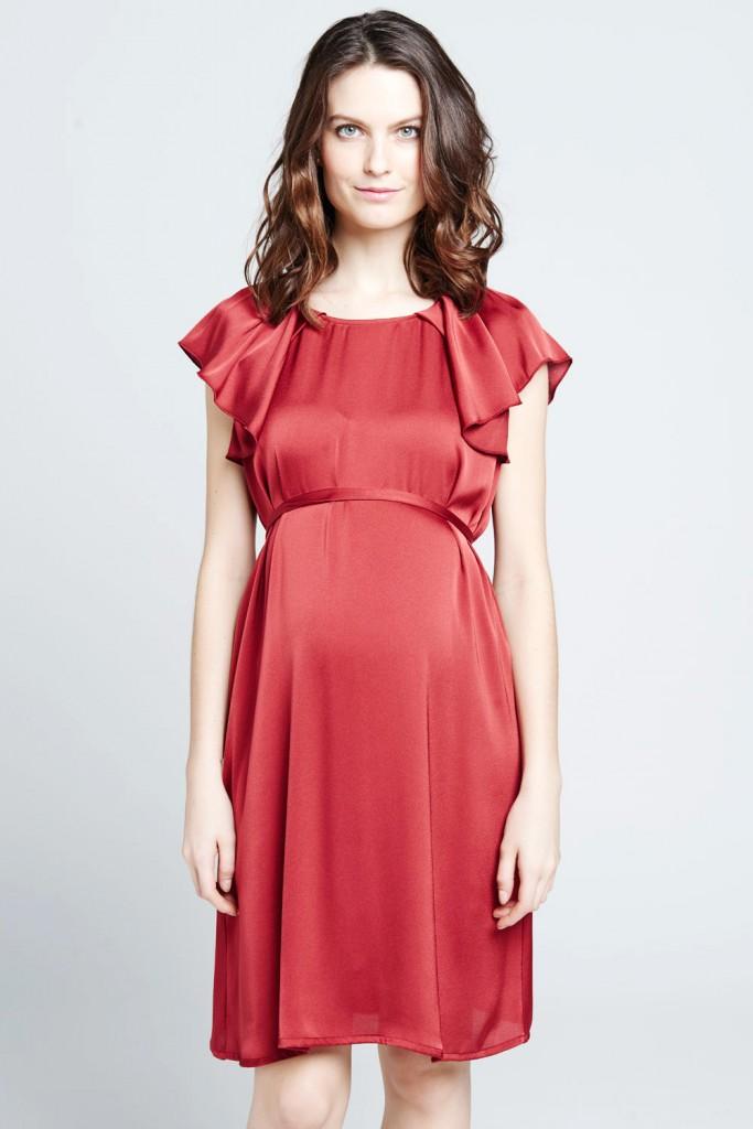 Robe de grossesse rouge by Mamalicious- 39,95 € sur emoi emoi