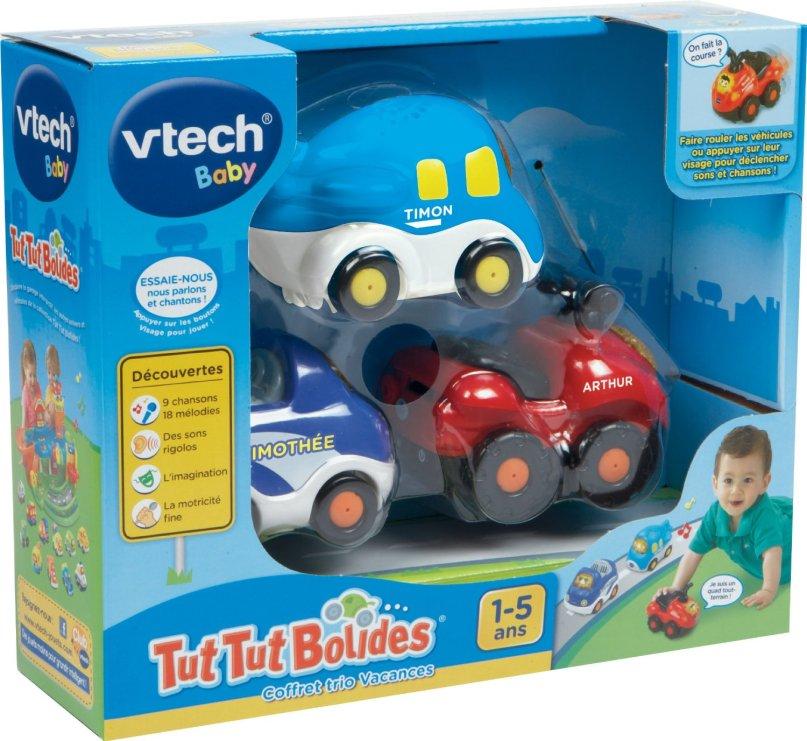 Vtech - 205735 - Vehicule Miniature - Tut Tut Bolides - Coffret Trio Vacances - Avion + Quad + Cabriolet