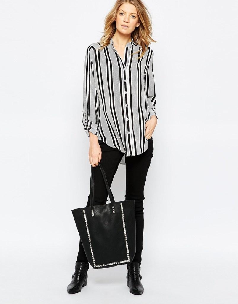 chemise de maternite en rayures asos