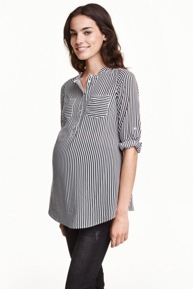 blouse a col h&m Maternité, 24.99 euros