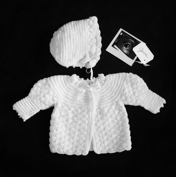 bonnet et veste pour bebe photographie diane yudelson