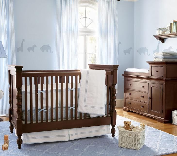 chambre déco boisées-neuf mois-bleu