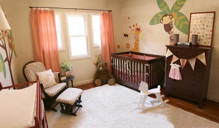 chambre déco boisées-neuf mois-bois colonial
