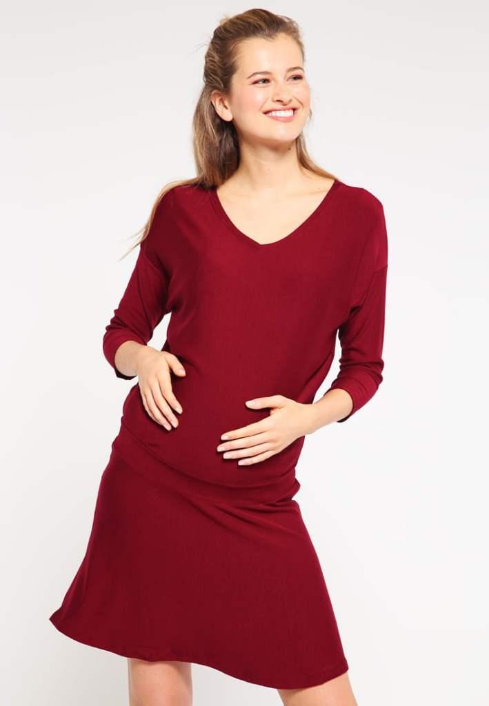 shopping rouge robe de grossesse zalando