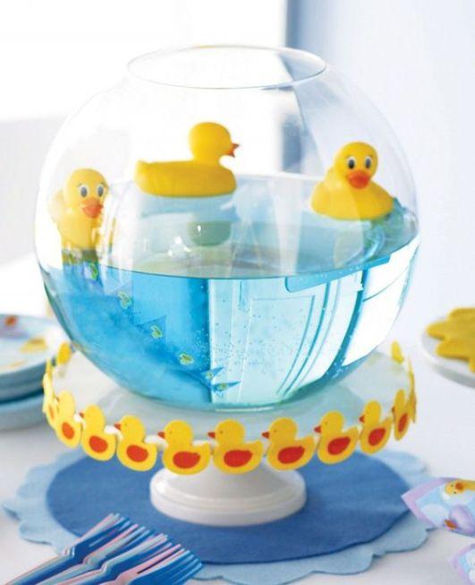 baby shower-canards-neuf mois-aquarium