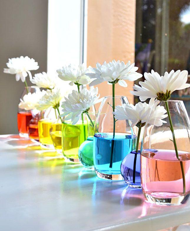 baby shower printanière-vases