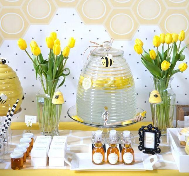 baby shower printanière-abeilles