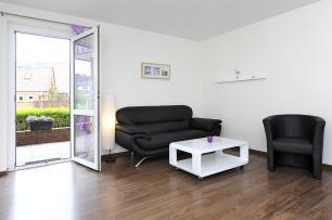 Balkon und Couch