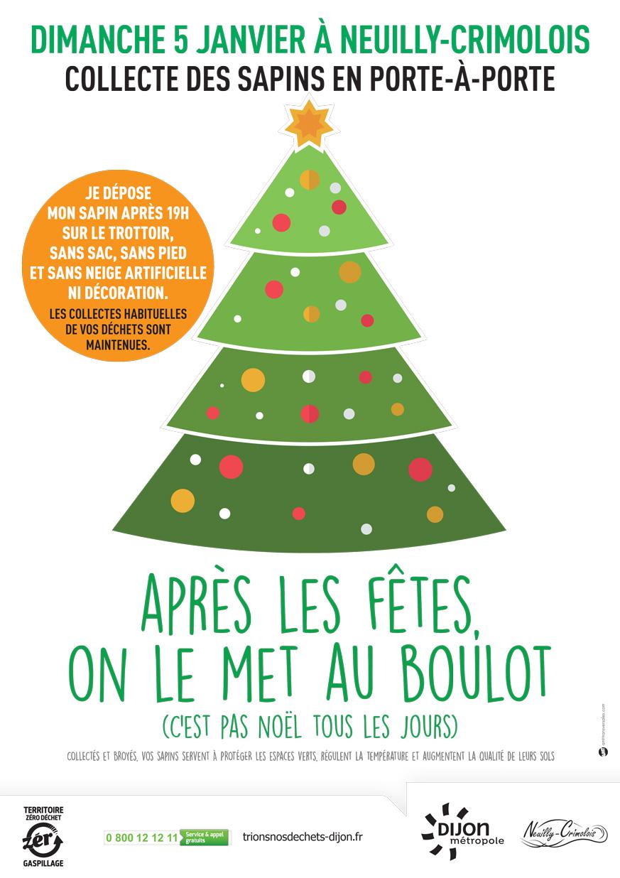 Collecte de sapins à Neuilly-Crimolois le 5 Janvier