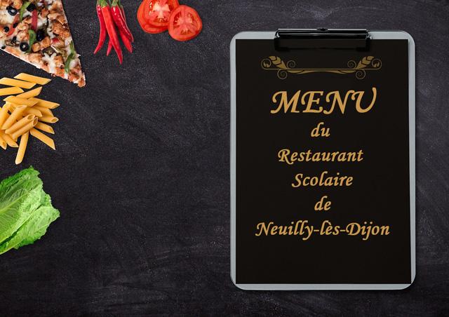 Menu du 06 janvier 2020 au 21 février 2020 au restaurant scolaire de Neuilly-lès-Dijon