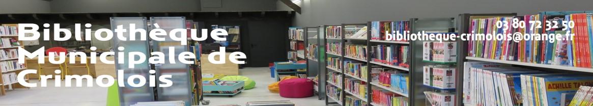 Rappel des horaires d'ouverture de la bibliothèque de Crimolois