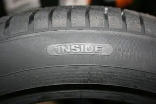 Neumático asimétrico inside lado interior
