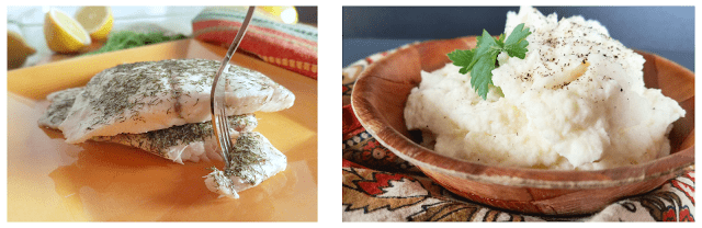 Combine these two dishes for a healthy, gluten-free and low-carb 20 minute dinner!