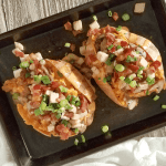 Layers of flavor make these Turkey Stuffed Cajun Sweet Potatoes crazy delicious, yet they're nutritious, gluten-free, grain-free, dairy-free and easily made Paleo and Whole30 compliant. They also come together in just 30 minutes, making them an easy way to use your leftover turkey!