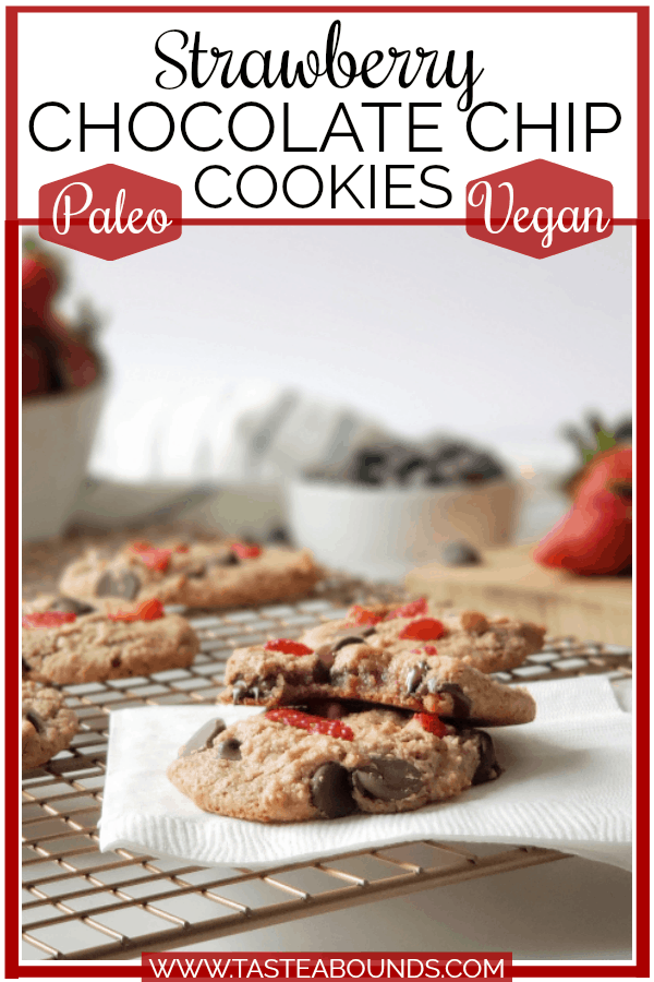 Healthy Strawberry Chocolate Chip Cookies