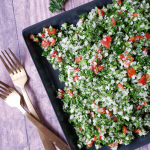 Cauliflower Tabbouleh (a.k.a. Tabouli Salad) with Roasted Red Peppers