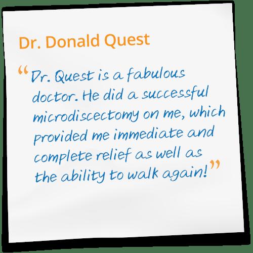 Dr Donald Quest Reviews