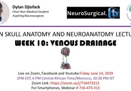 """Today, LIVE, INTERACTIVE, recorded, from Africa, Neuroanatomy Webinar #10 in Series: """"Venous Drainage"""", by Cameroon Med Student"""