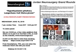 """Recorded .LIVE. yesterday, Wednesday,  """"Jordan Neurosurgical Grand Rounds"""", LIVE from Amman Jordan, see it here"""