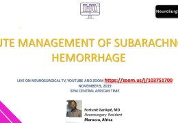 """NOW LIVE  NOW LIVE  Presentation by the Future Neurosurgeons of Africa, """"Acute Management of Subarachnoid Hemorrhage"""""""