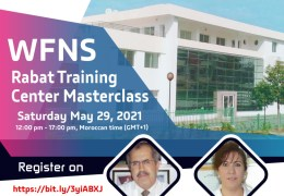 Was LIVE Now Recorded, May 29, 2021 WFNS Rabat Training Center Masterclass: Education and Training Challenges in Neurosurgery
