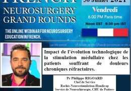 VIVO, VIVO………………………Vendredi 30 Juiliet a 6:00 de l'apres midi,  Heure de Paris, Pr. Philippe Rigoard, CHU de Poitiers………………