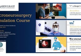 """NOW, LIVE, NOW, LIVE………….. """"Microneurosurgery Simulation Course"""", LIVE, from Innsbruck, Austria"""